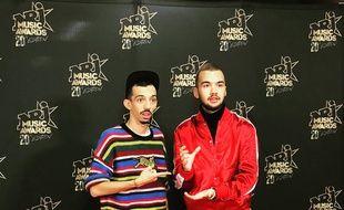 Bigflo & Oli aux Gagnants aux NRJ Music Awards.