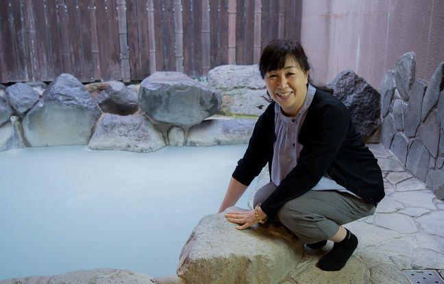 Maya Honda, propriétaire du onsen Ebisuya à Beppu, dans le sud-ouest du Japon.