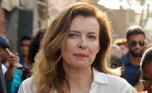 Valérie Trierweiler, l'ancienne compagne du président François Hollande, le 28 janvier 2014, à Bombay, en Inde