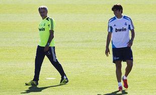 José Mourinho et Kaka lors d'un entraînement du Real Madrid, le 16 août à Valdebebas (Madrid).
