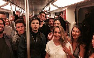 Orelsan a réalisé le shooting photo de son dernier album, La Fête est finie, dans le métro de Toulouse, à la station Ramonville.