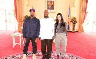 Kanye West et Kim Kardashian ont rencontré le président de l'Ouganda le 15 octobre 2018.