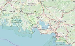 L'épicentre du tremblement de terre a été relevé près de Mouriès dans les Bouches-du-Rhône.