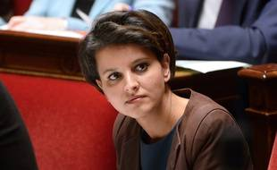 French Education minister Najat Vallaud-Belkacem attends the weekly session of questions to the government at the National Assembly in Paris, on December 3, 2014. AFP PHOTO/BERTRAND GUAY