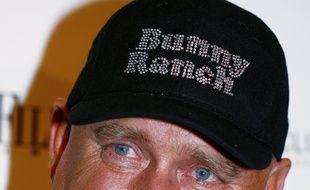 Photo d'archives prise le 27 avril 2008 de Dennis Hof, , propriétaire de maisons closes et gagnant de la primaire républicaine dans le Nevada, à Washington, aux Etats-Unis.