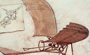 Machine volante, d'après Léonard de Vinci.