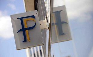 Logo du Centre des Finances Publiques de Nantes, le 25 mai 2010.