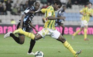 Le joueur nantais Serge Déblé, le 15 octobre 2010 contre Tours, àNantes.