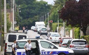 Voiture de police à Saint-Etienne-de-Rouvray, le 26 juillet 2016.