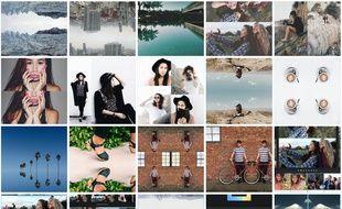 Des exemples de montages réalisés avec l'application Layout d'Instagram.