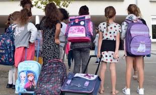 Des élèves lors de la rentrée scolaire, le 2 septembre 2019 à Bourgoin Jallieu