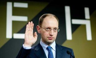 Arseni Iatseniouk le 17 janvier 2010 à Kiev, en Ukraine.