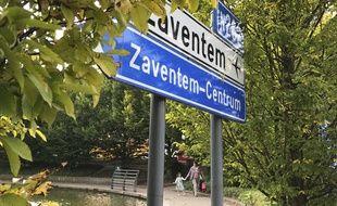 Panneau de la commune néerlandophone de Zaventem en Belgique.