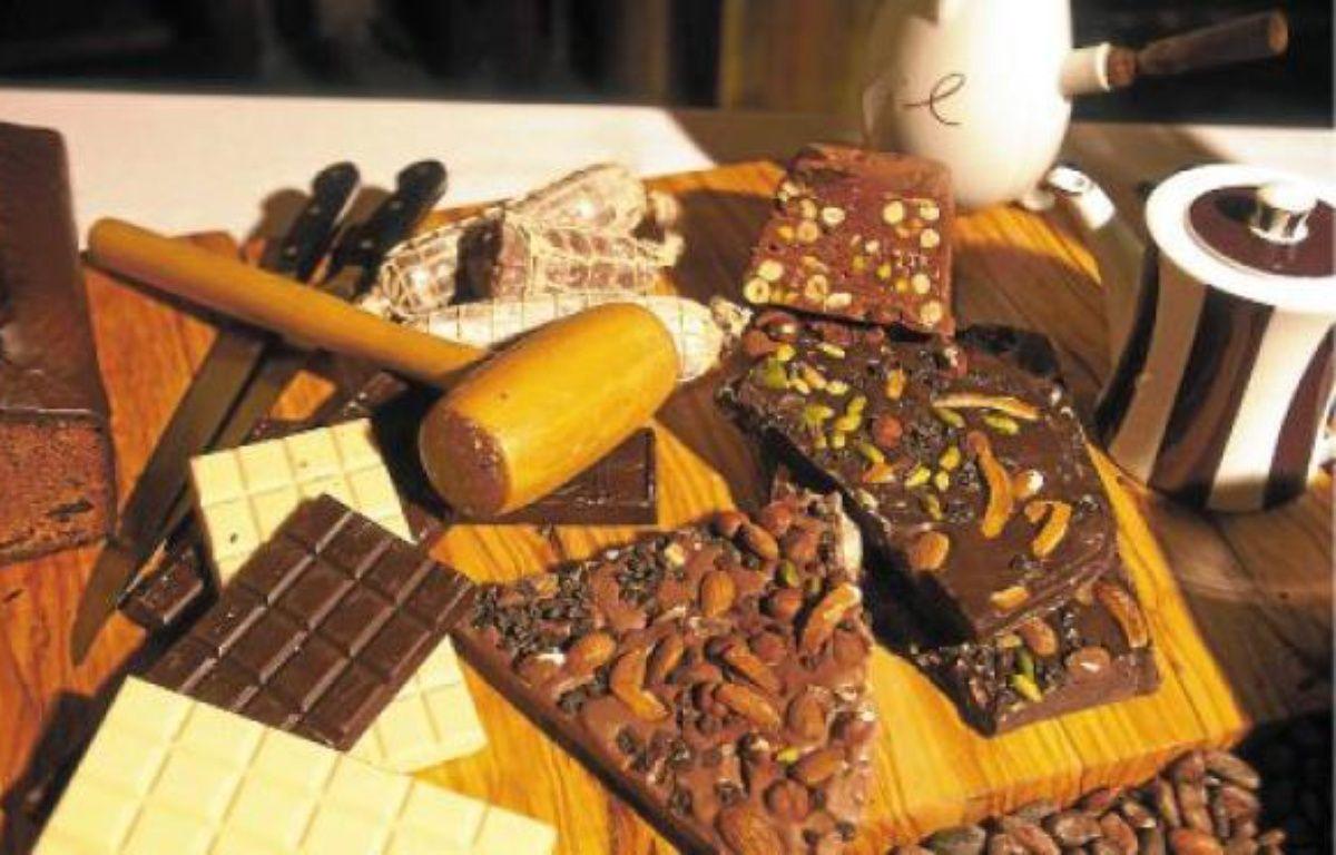 Sérotonine, anandamide... Le chocolat contient «des molécules psychostimulantes qui favorisent le bien-être». –  SETBOUN PHOTOS / SIPA