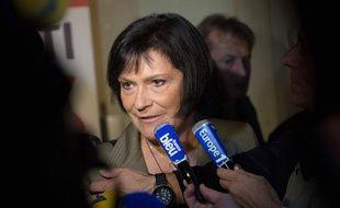 La ministre déléguée aux Handicapés Marie-Arlette Carlotti, le 13 octobre 2013 après sa défaite à la primaire socialiste à Marseille.