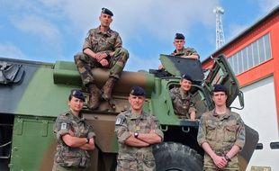 Une partie du contingent de 41e RT de Douai en partance pour le Sahel.