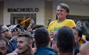 Le candidat brésilien d'extrême droite Jair Bolsonaro a été blessé au couteau le 6 septembre 2018.