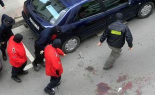 A proximité du domicile d'Isaias Carrasco, ex-élu socialiste espagnol tué le 7 mars 2008 à Mondragon