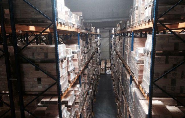 Bordeaux City Bond, près de Bordeaux, stocke quelque 135.000 caisses de vin, soit 1,6 million de bouteilles