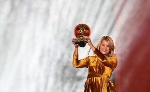 Ada Hegerberg lors de son ballon d'or en décembre 2018.