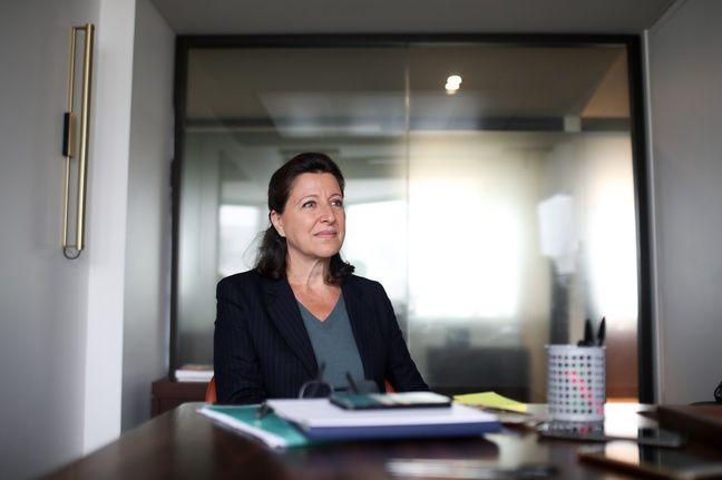 Agnès Buzyn, candidate (LREM) à la mairie de Paris, le 9 juin 2020, dans son QG.
