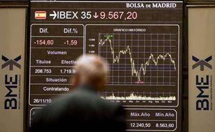 La Bourse de Madrid le 26 novembre 2010.
