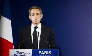 Nicolas Sarkozy, le 20 novembre 2016 après avoir été éliminé de la primaire à droite.