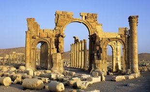 L'arc de triomphe de Palmyre.