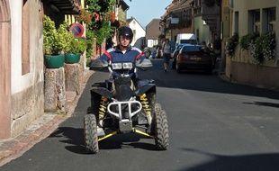 Conducteur de quad en Alsace