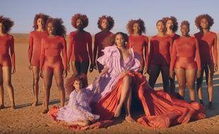 Beyoncé dans le clip de «Spirit».