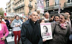 Robert Le Gall, lors d'une manifestation de La Manif pour tous. (archives)