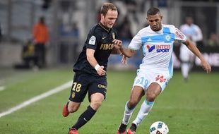 Valère Germain et Jacques-William Vainqueur, le 15 janvier 2017, à Marseille.