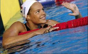 Laure Manaudou est détentrice d'un titre olympique sur 400 m nage libre et trois titres mondiaux, deux sur cette même distance et un sur 200 m nage libre.