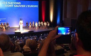 Marine Le Pen a fait sa rentrée politique à Fréjus dimanche.