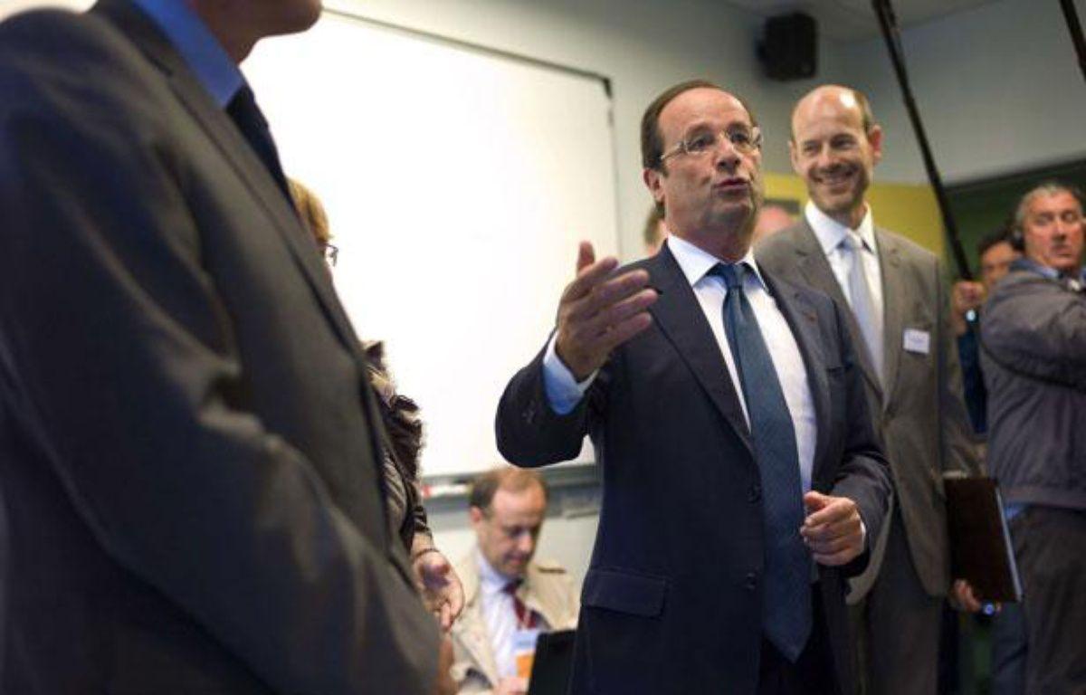 Le Président François Hollande au collège Youri Gagarine, le 3 septembre 2012.  – Thibault Camusole /AP Photo