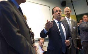 Le Président François Hollande au collège Youri Gagarine, le 3 septembre 2012.