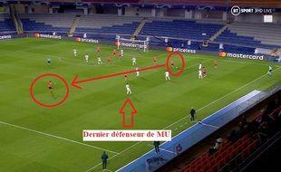 La défense mancunienne sur l'ouverture du score turque.