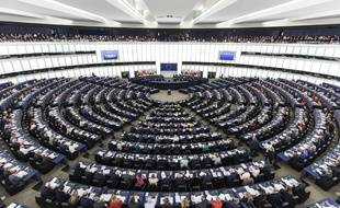 Le Parlement européen lors d'une session plénière en mars 2019.