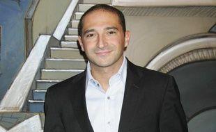 """Thomas Fabius, le fils de l'ancien Premier ministre socialiste Laurent Fabius, lors de la premiere de """" La Môme"""", à Paris, le 12 février 2007."""