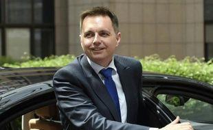 Le ministre slovaque des Finances Peter Kazimir le 11 mai 2015 à Bruxelles