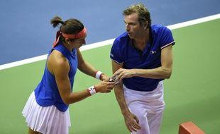 Caroline Garcia a remporté son premier match avec Benneteau sur le banc.