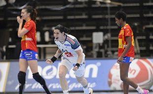 Alexandra Lacrabère après son but vainqueur face à l'Espagne, en 8es de finale du Mondial 2015.