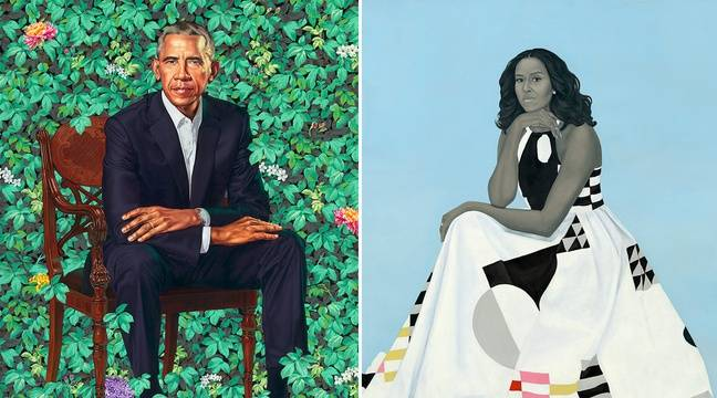 VIDEO. Les portraits officiels de Barack et Michelle Obama ne font pas l'unanimité