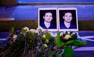 La photo de Jérémy Roze, lors d'une marche en hommage au jeune homme tué d'un coup de couteau en février 2011 à Toulouse..