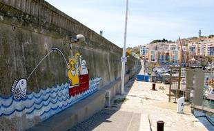 Une oeuvre de street-art, sur le port de Sète.