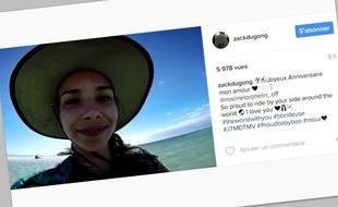 Marine Lorphelin Recoit Un Chouette Message D Anniversaire De Son Cheri