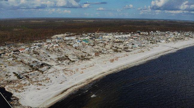 Etats-Unis: L'une des dernières maisons épargnées par l'ouragan Michael