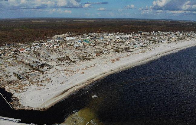 VIDEO. Etats-Unis: L'une des dernières maisons épargnées par l'ouragan Michael