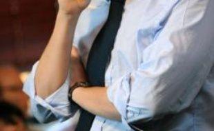 Jean Sarkozy le 18 mai 2009 lors d'un café politique à la Défense sur les élections européennes