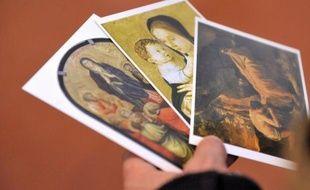 """Les quatre tableaux de très grande valeur volés le 19 février 2011 au Palais Fesch-Musée des Beaux-Arts d'Ajaccio ont été retrouvés vendredi soir sur un parc de stationnement de la ville, """"en parfait état"""", sur la foi d'une information anonyme, a indiqué samedi le parquet."""